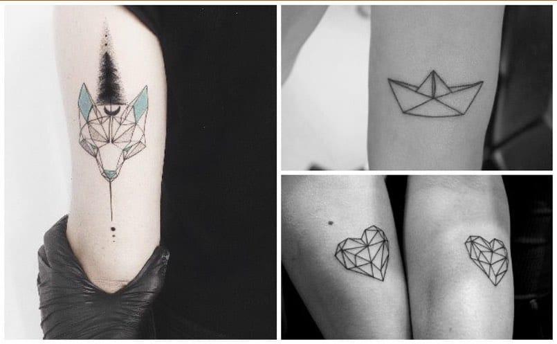 Los Tatuajes Geométricos Están De Moda Mini Tatuajes