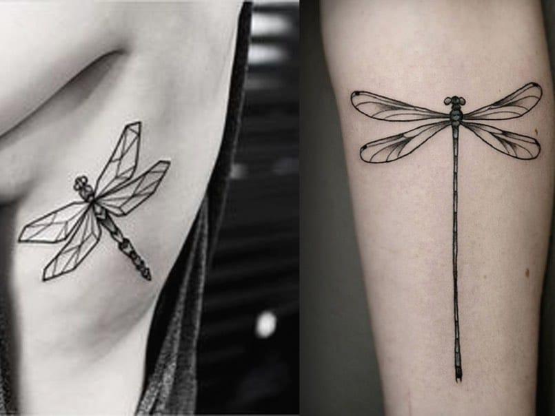 Tatuaje libélula pequeño