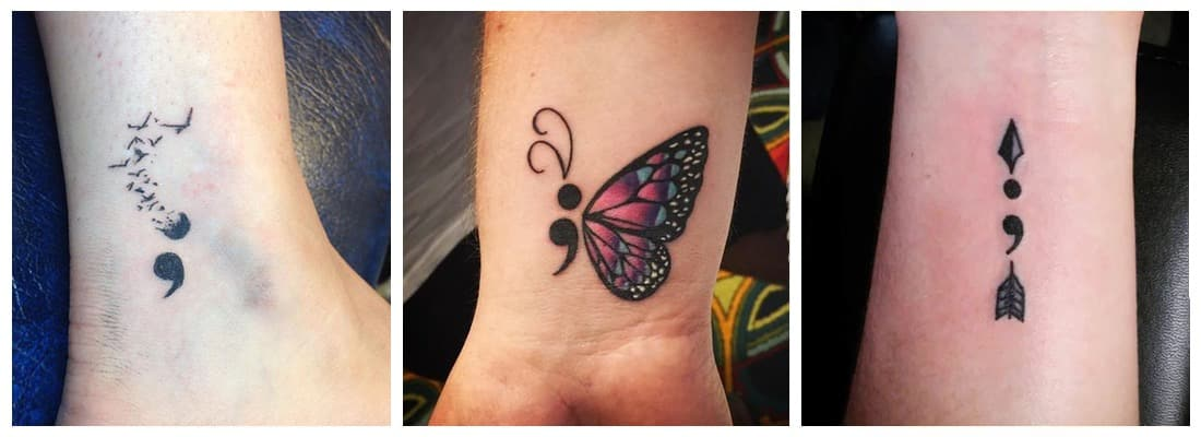 Tatuajes Punto Y Coma Un Mensaje Simple Y Poderoso Mini Tatuajes