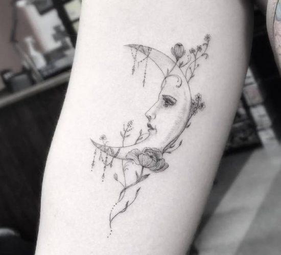 tatuaje-en-brazo-luna
